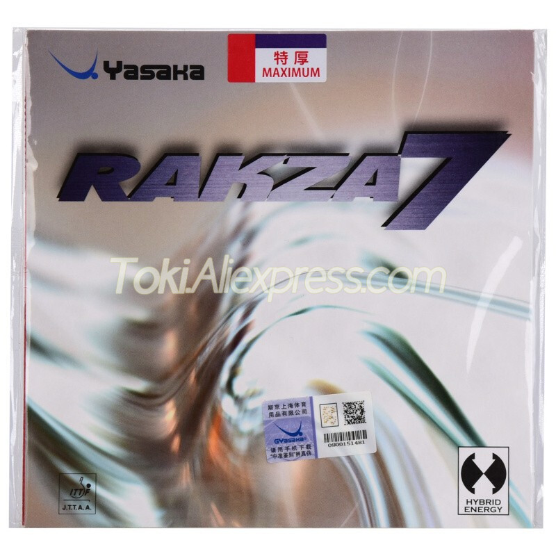 YASAKA RAKZA 7 Table Tennis Rubber Pips-In Original Yasaka RAKZA7 / RK7 Ping Pong Sponge