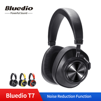 Bluedio T7 Wireless Headphones User Defined Active Noise Cancelling Headset Bluetooth V5.0 for Phones with Face Recognition