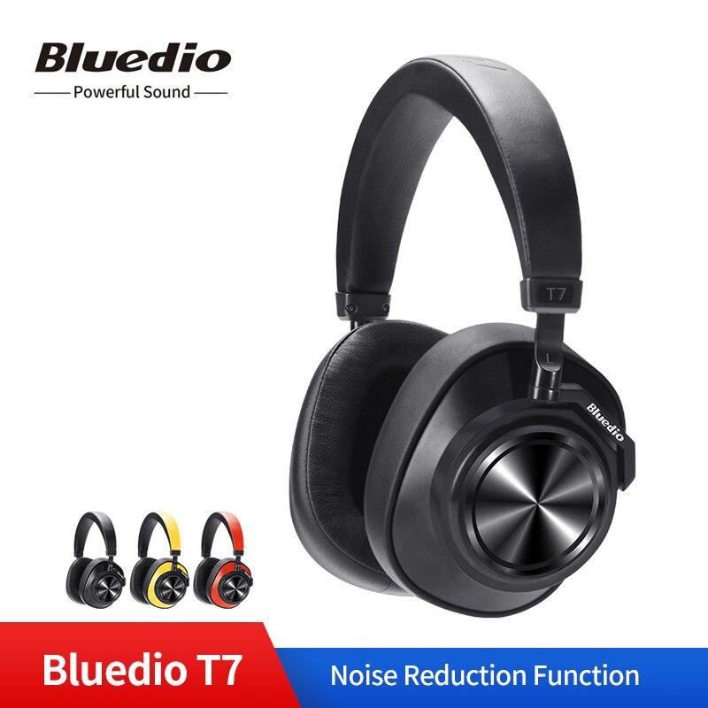 Casque sans fil Bluedio T7 casque anti-bruit actif défini par l'utilisateur Bluetooth V5.0 pour téléphones avec reconnaissance faciale
