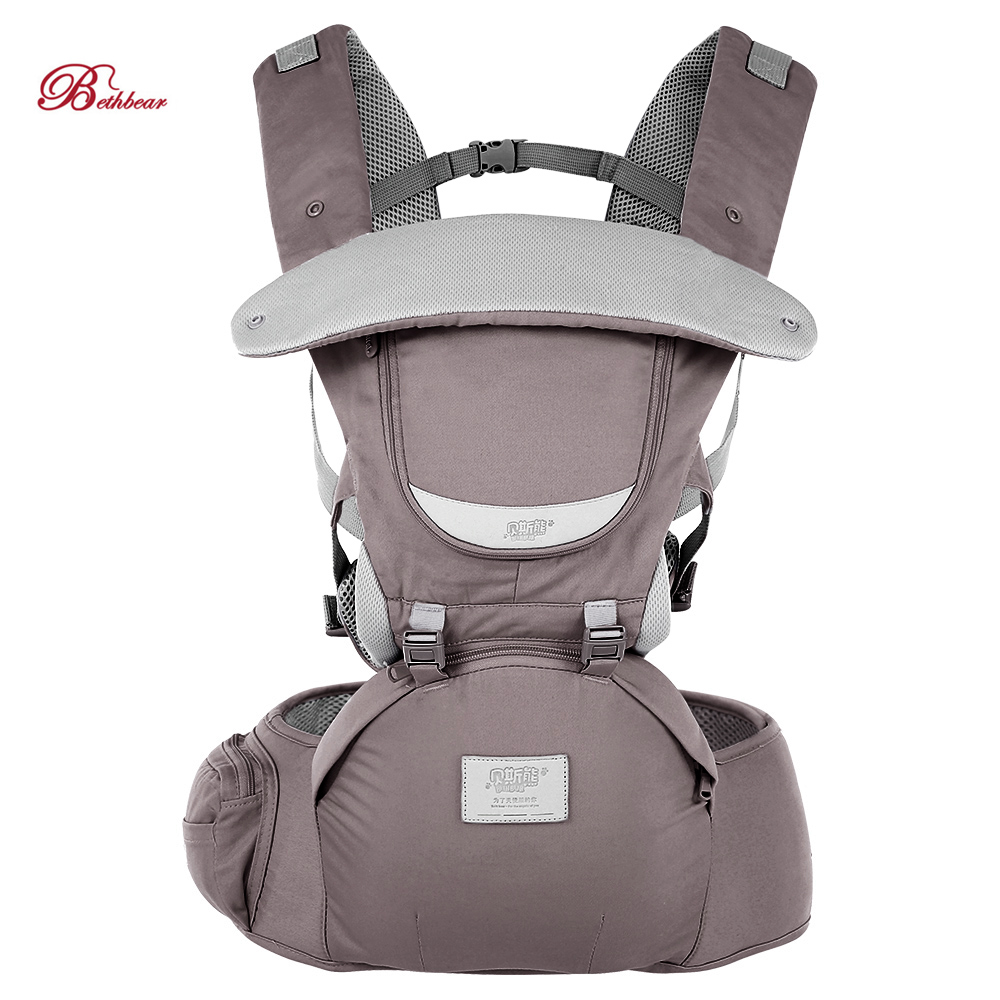 In Stock Bethbear 0-36 Months Infant Baby Carrier Backpack 3 In 1 Adjustable Hip Seat Waist Stool Baby Soft Sling Carrier 2019