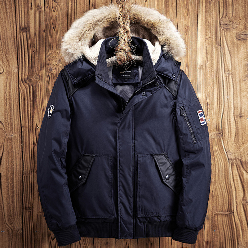 Mens Coats Winter 2019 Cotton-padded Clothes Hooded Hair Men'S Wear Jacket  Cotton-padded Clothes Coat Mens  DSW2530