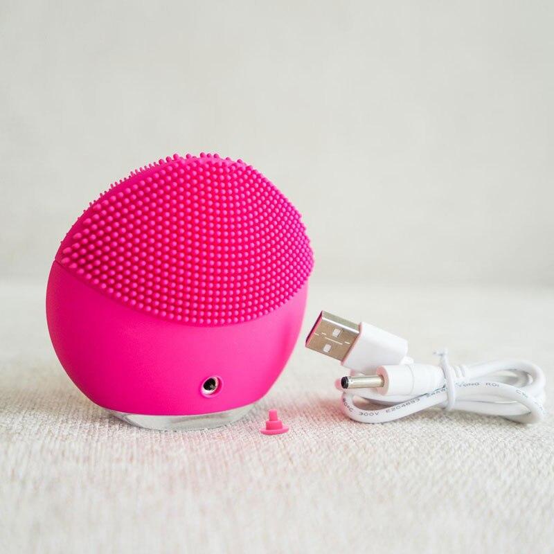 Купить с кэшбэком Electric Facia luna mini 2 waterproof Silicone Mini Electric Facial Cleansing Brush Silicone Deep Pore Cleaning Massage