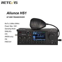 RETEVIS Ailunce HS1 HF SDR משדר SSB משדר רדיו HF משדר QRP 15W 0.5 30MHz SSB רדיו CW AM FM HF להקה