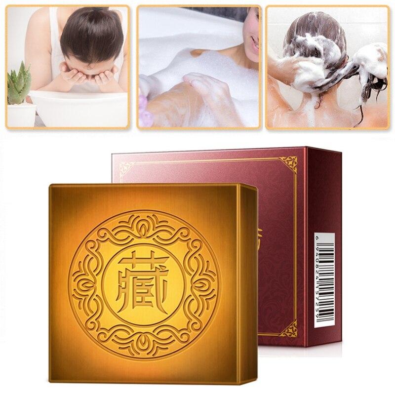 Saffron Handmade Soap Moisturizing Anti-acne Anti-mites Shrinking Pores Facial Cleansing Soap Skin Care Beauty Good Use