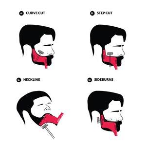 Image 3 - OSHIONER plantilla Universal para Estilismo de barba, plantilla para Barba, peine de doble cara, herramienta para dar forma a la barba, 1 Uds.