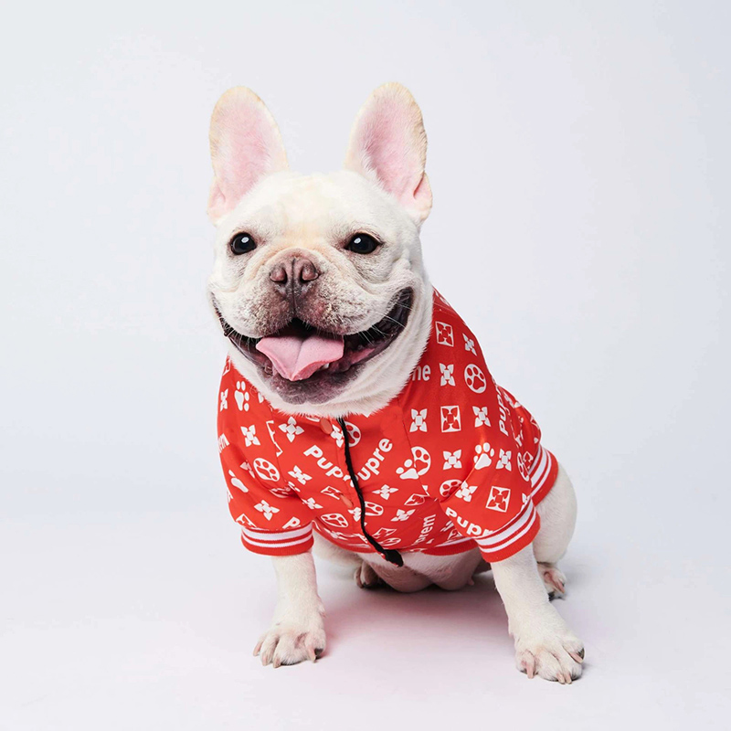 Одежда с принтом в виде собак зимние теплые Pet куртки для собак, щенков, одежда для рождественских праздников, толстовки с капюшоном для малы...