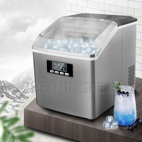 Small Ice Maker Household Ice Maker Machine Square Ice Cube Full Transparent Cover Frozen Home Appliances станки для бизнеса