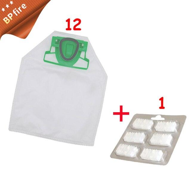 12pcs /lot Dust Bag Dust Cleaning Cloth Bag +1 Fragrance tablets Jasmine  for Vorwerk VK200 Vacuum Cleaner Parts