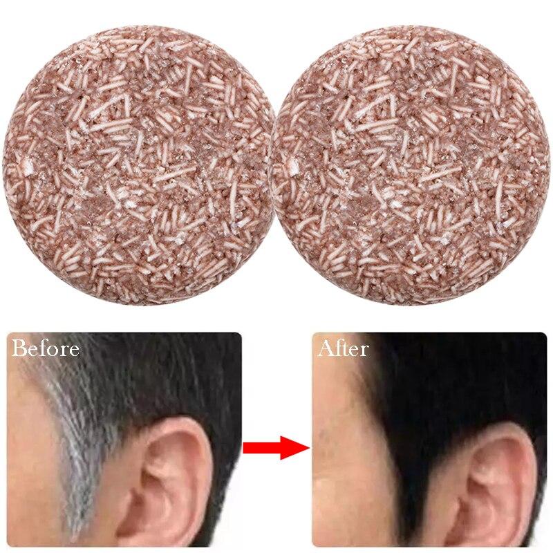 Шампунь для затемнения серых волос, мыло, натуральная органическая восстанавливающая эссенция, контроль жирности, шампунь против перхоти, ...
