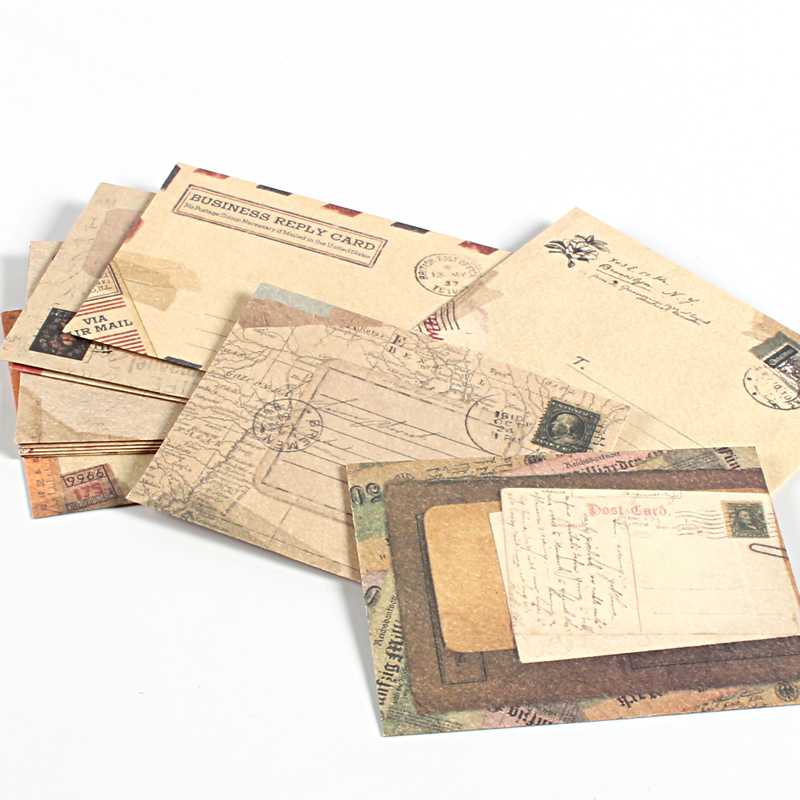 12 Pcs/lot Envelope Cute Mini Envelopes Vintage European Style For Card Gift Envelope Christmas Envelopes For Invitation