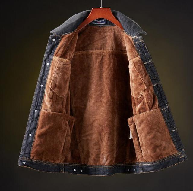 winter Men Jacket And Coat Warm Denim Jacket Fashion 2