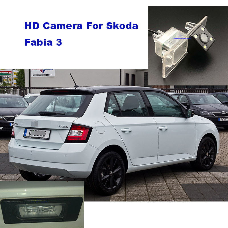 Yessun License Plate Camera For Skoda Fabia 3 Car Rear View Camera Parking Assistance