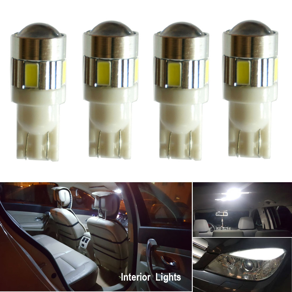 2x White SMD 8 LED 12v Replacement T10 Wedge Light Bulb 194 2450 2652 2921 2825
