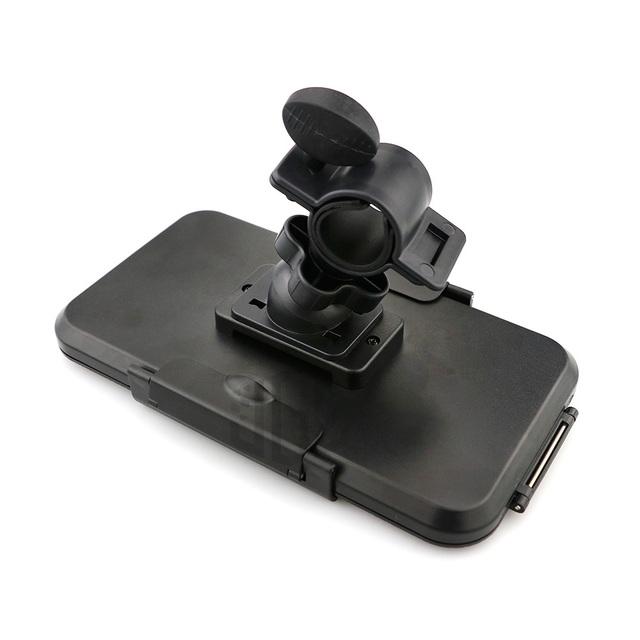 22-28mm Universal Motorcycle ABS Waterproof Phone Holder Bag GPS Adjustable Stand Bracket Mount for Honda DUCATI Suzuki Benelli