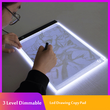 3 Level Dimmable Led Drawing Copy Pad Board for Baby Toys A5 Size Painting Educational Toys Creativity for Children
