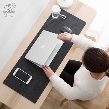 Duże XXL komputer biurowy podkład na biurko stół klawiatura duża mysz Pad wełny czuł poduszka na laptopa biurko mata antypoślizgowa podkładka pod mysz mata tanie i dobre opinie CN (pochodzenie)