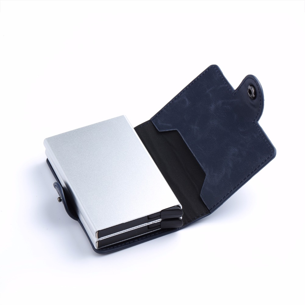Rfid Blocking Protection Men id Credit Card Holder Wallets for Men Short Rfid Card Wallet Money Bag Mini Purse Aluminum Business