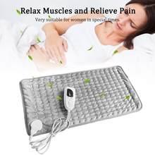 Coussin chauffant électrique, 100-240V, 40x30cm, 6 blocs de réglage de la température, soulagement de la douleur à la taille
