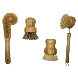 Zestaw szczotek do czyszczenia roślin  bambusowa szczotka do szorowania kuchni zestaw 4 czystych zastaw stołowych/puszka/butelka/garnek/garnek/patelnia/Veg na