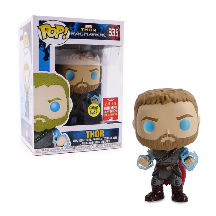 FUNKO POP Thor Collection Model Toys Movie Thor Action Figure Limited Doll Model 335# Kids Toy