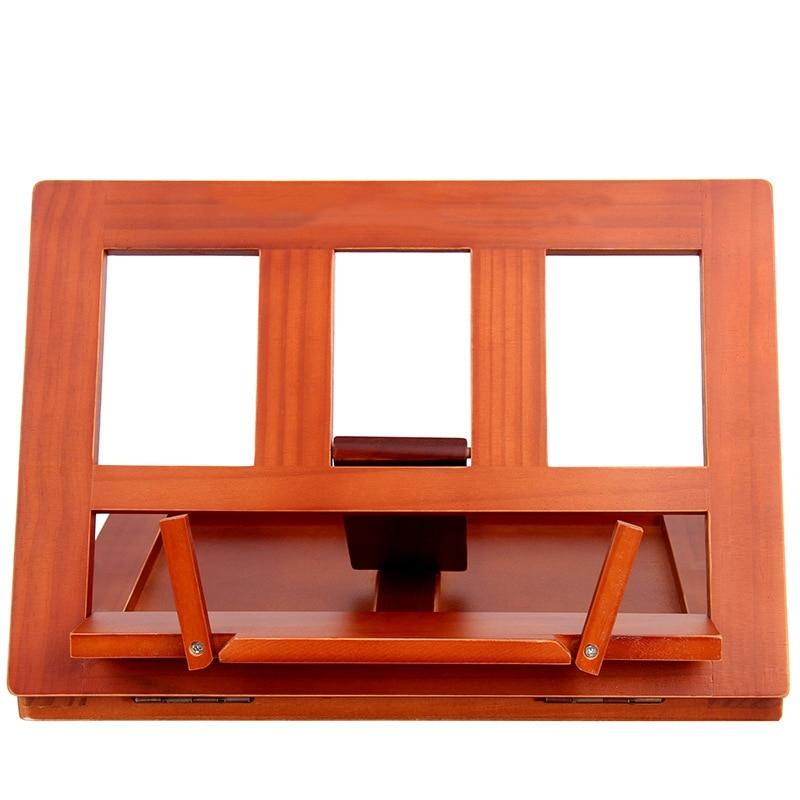 Foldable Wood Reading Frame Tablet Stand Portable Bookshelf Cookbook Holder Music Folder Wooden Laptop Tablet IPAD Stand Holders