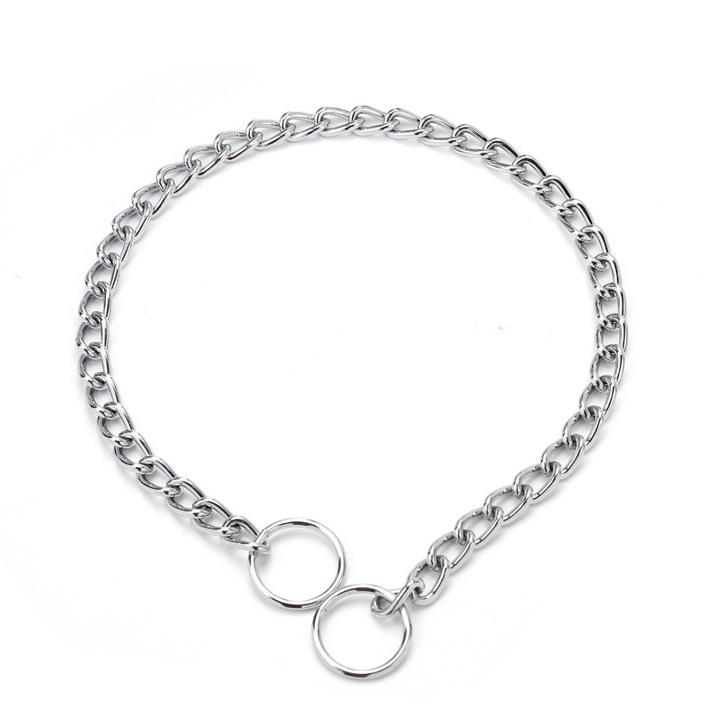 New Style Pet Supplies Creative Pet Dog Chains Neck Ring Figure Eight Knot Necklace