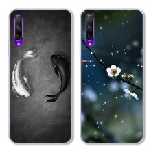 Cartoon Cat and Fish Case For Huawei Honor 9X Pro,TPU Painted Mobile Phone Shell Lovely Color Painting Case.17 Colors!