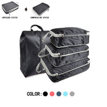 Compression Packing Cubes Waterproof Travel Luggage Organizer Travel Bag Nylon Men Women Foldable Travel Bags Hand Luggage