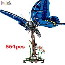 564pcs Simulated insect DIY Red Dragonfly honeybee Building Blocks Compatible Technic animal city Bricks kids Educational const(China)