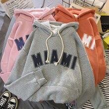 MIA MI Harajuku Warm Print Sweatshirt Men and Women Hoodie Loose Hoodie Sweatshirt Casual Sportswear Pullover loose fit random lip print pullover sweatshirt for fall