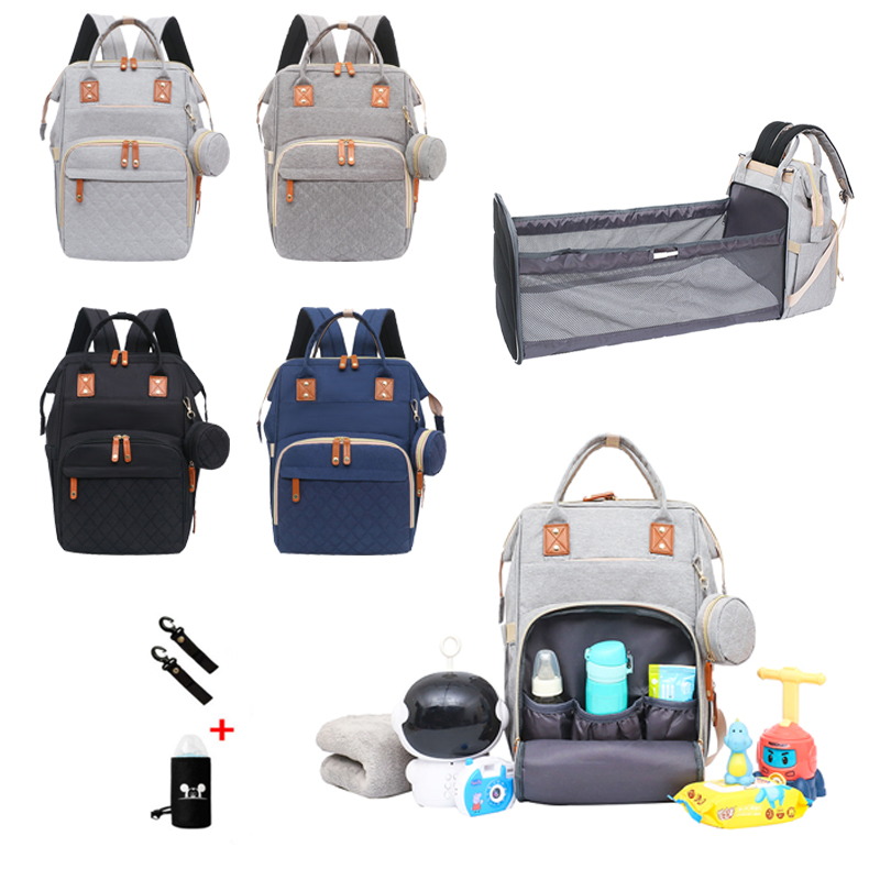 2021New Mommy Baby Diaper Bag Folding Baby Mom Travel Backpack Large Capacity Nappy Maternity Care Women Bag Nursing Bags