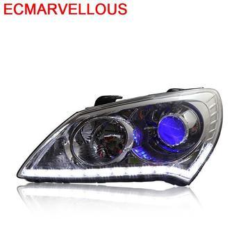 Automobiles Exterior Cob Neblineros Led Para Auto Daytime Running Headlights Car Lights Assembly 17 FOR Hyundai Celesta