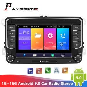 AMPrime Android 9,0 автомобильный Радио стерео 7 ''мультимедийный плеер 1G + 16G GPS WiFi плеер Автомобильный стерео для VW Passat Golf MK5 MK6 Jetta