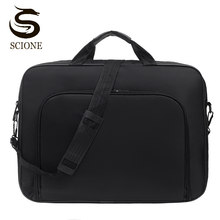 Мужские сумки для ноутбука 15 17 дюймов, мужские деловые Офисные Сумки, черная нейлоновая сумка на плечо, повседневный портфель, мужская сумка...