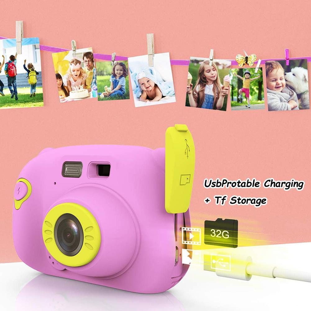 Mini Children's Camera Toy Digital High-Definition 2 Inches Camera Model Kids Dual Lens Photography Toy Gift For Children