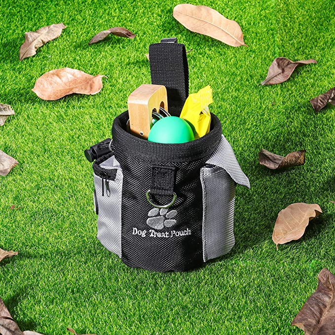 Grass - Pet Dog Treat Pouch Portable Dog Training Bags Treat Outdoor Feed Storage PouchHands Free Training Waist Bag Pet Product