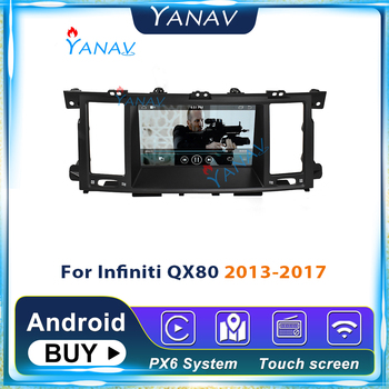 2din Android car radio multimedia GPS navigation Tesla style car stereo For Infiniti QX80 2013-2017 car autoradio DVD player image