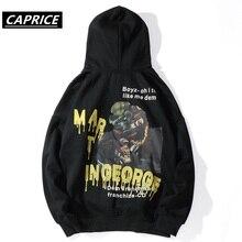 hip hop Gorilla graffiti Graffiti Print Fleece Hooded Hoodies Pullover Sweatshirt Streetwear Men Fashion Harajuku Casual Tops