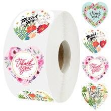 500 шт/рулон любовь Спасибо наклейки используемые для скрапбукинга