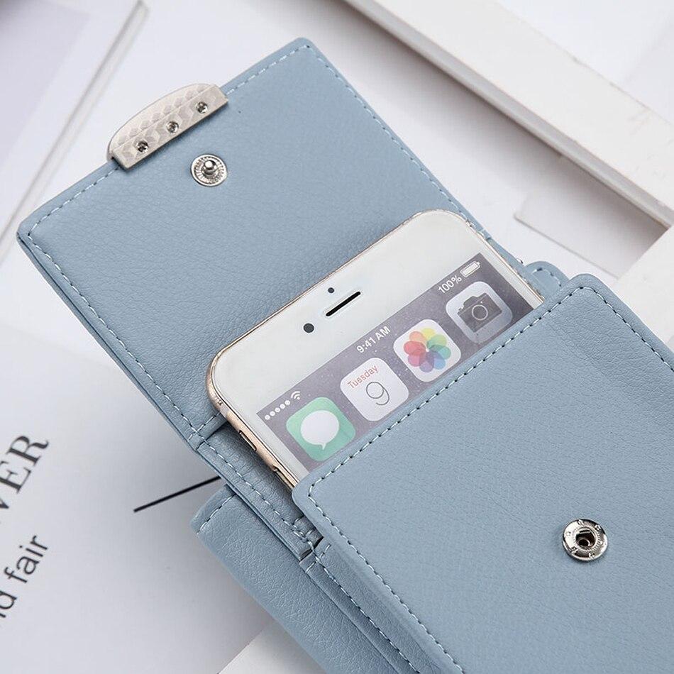 Moda de luxo couro carteira de cartão