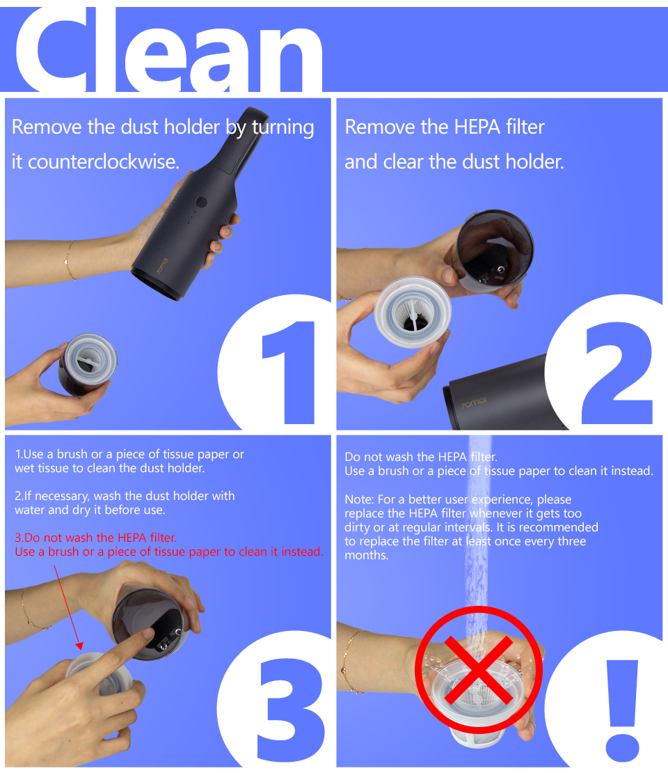 Xiaomi 70mai Midrive PV01 Mini Handheld Wireless Car Vacuum Cleaner 13