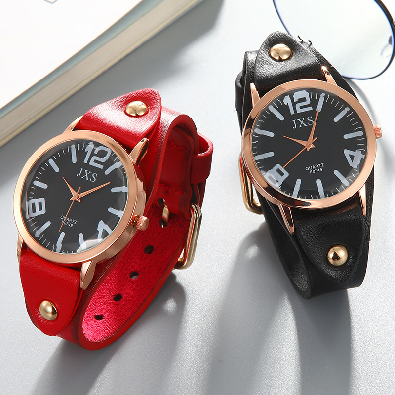 Men's Sports Waterproof Watch Neutral Watches Fashion Leather Strap Wrist Watch For Man Women Couple Pair Watches Lovers Gift