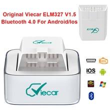 מקורי Viecar ELM 327 V1.5 OBD2 OBDII סורק עבור אנדרואיד/IOS Bluetooth 4.0 קוראי קוד רכב כלי אבחון