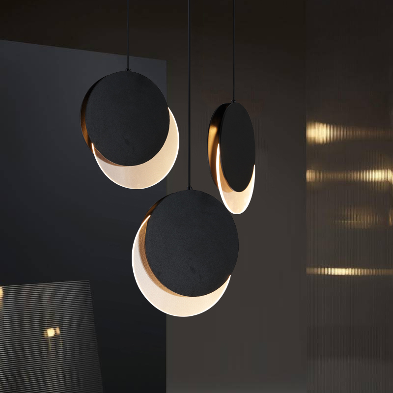 Post-modern Art Restaurant Pendant Lamp Nordic Simple Dining Table Bedside Bed Three Round Bar Cosmos Pendant Lights Luminaire