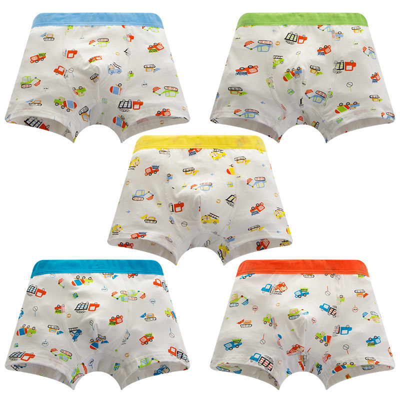 Drop Shipping Cotton Underpants Briefs For Boys 3-8Y Children Underwear For Kids  Infant Boys Car Print Boxer Panties Underwear