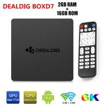 DEALDIG BOXD7 Android 7.1 Smart TV Box 6K Allwinner H6 Quad