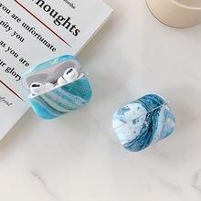 Чехол blue sea для apple airpods 2 pro 1 мраморный милый чехол