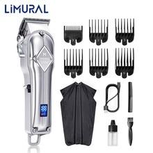 Lisural profissional clippers para homens dsp máquina de cortar cabelo corte de cabelo sem fio aparador barba barbeiro aliciamento kit recarregável