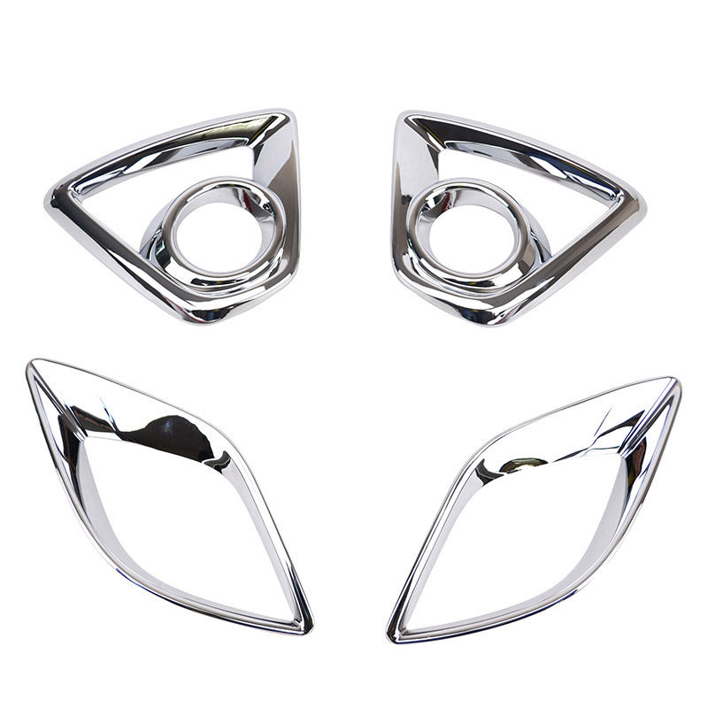 FIT FOR <font><b>MAZDA</b></font> CX-5 <font><b>CX5</b></font> CHROME FRONT <font><b>FOG</b></font> <font><b>LIGHT</b></font> & REAR BUMPER LAMP <font><b>COVER</b></font> TRIM 2013 image