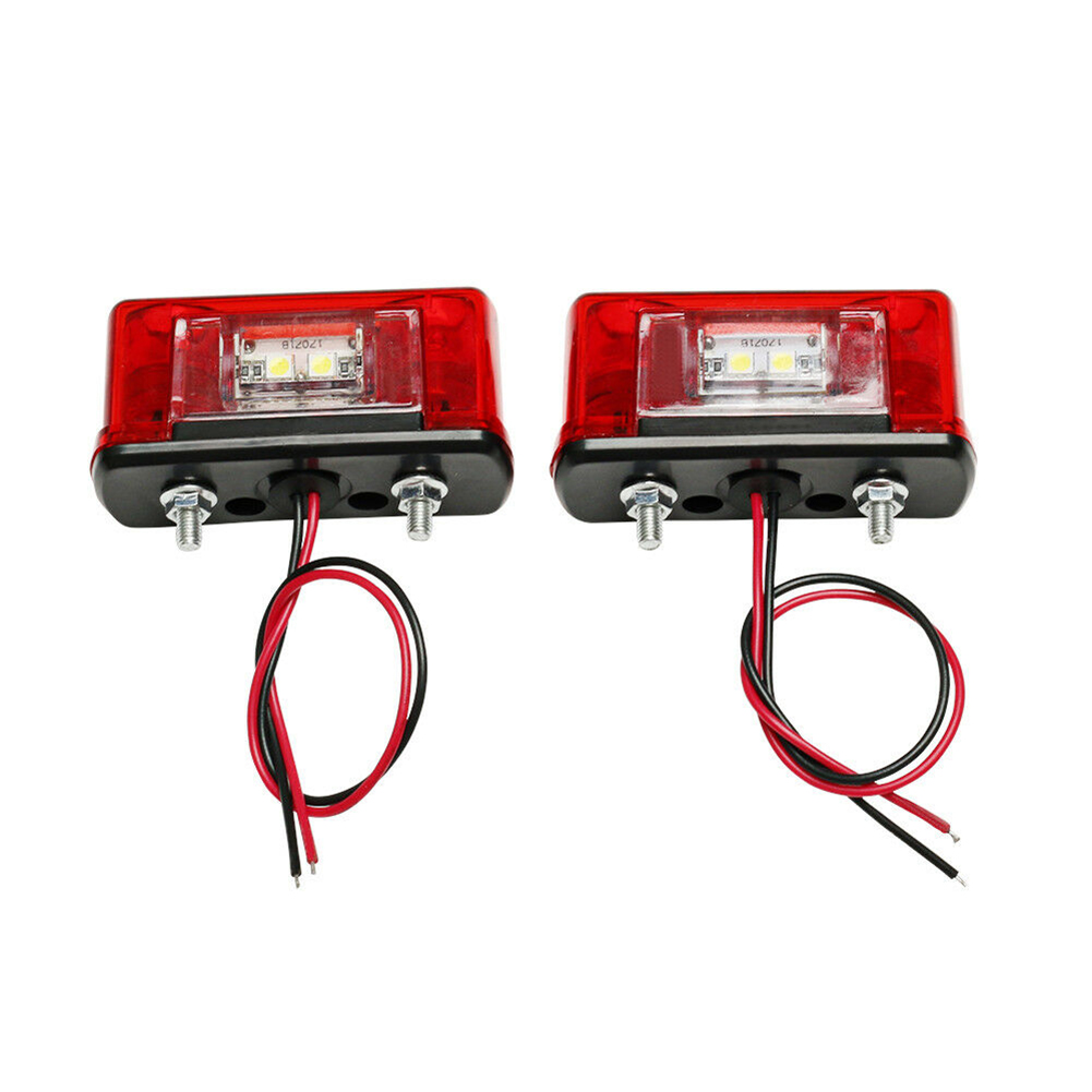 cheapest 2pcs 12V-24V LED Number License Plate Light Lamp for Car Trunk Trailer Lorry Waterproof License Plate Light Exterior Accessories